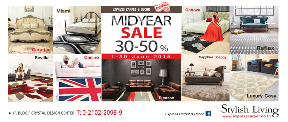 Express Carpet & Decor Midyear Sale 30-50%