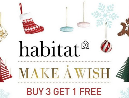 habitat MAKE A WISH :  BUY 3 GET 1 FREE